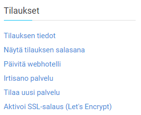 Valitse Aktivoi SSL-salaus