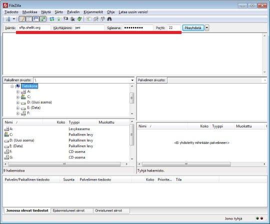 File transfer using FileZilla - Shellit org